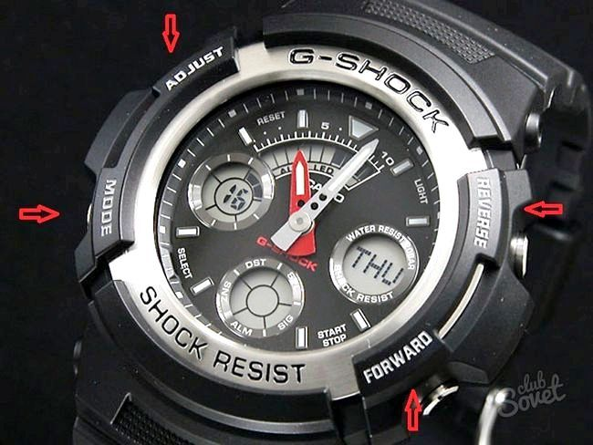 Як налаштувати годинник g-shock