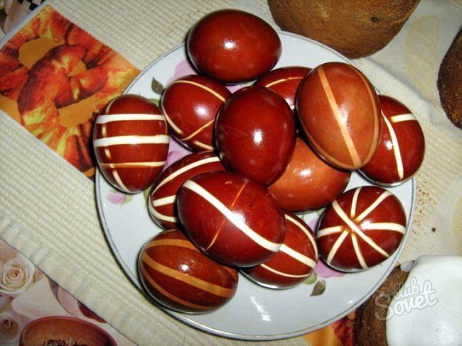 Як пофарбувати яйця до великодня