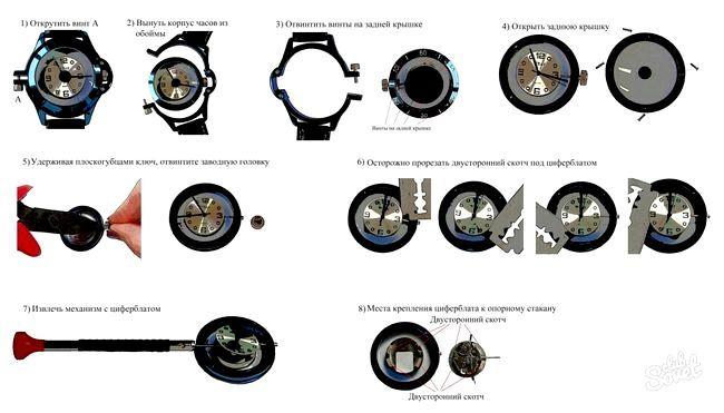 Як поміняти батарейку в наручних годинниках