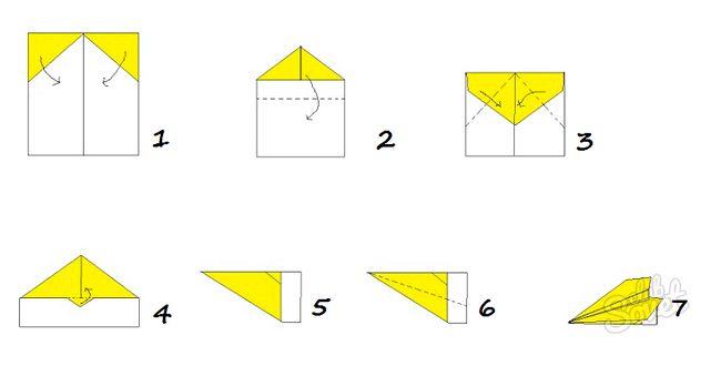 Як зробити літачок з паперу