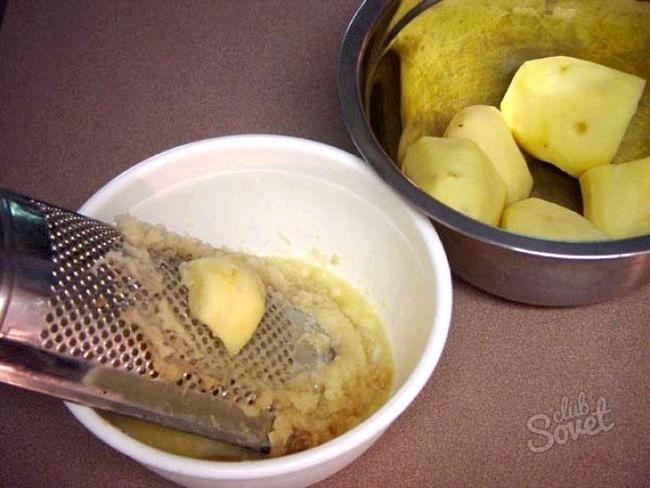 Маска з сирої картоплі
