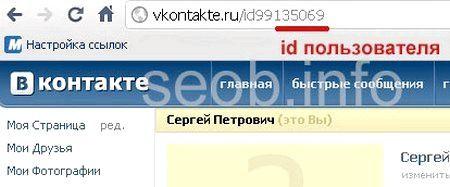 Як зайти на свою сторінку вконтакті з одним id