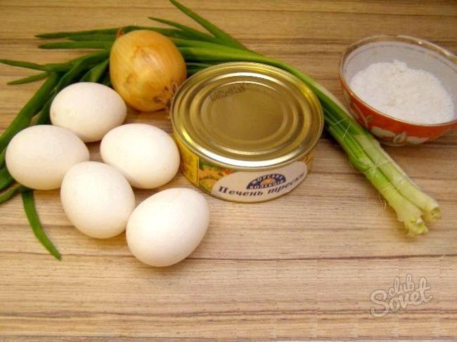 Салат з печінки тріски класичний